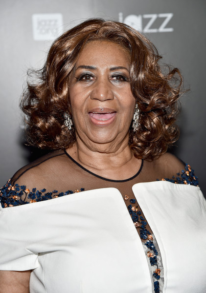 Musician Aretha Franklin attends the opening of the Mica and Ahmet Ertegun Atrium at Jazz at Lincoln Center on December 17, 2015 in New York City.