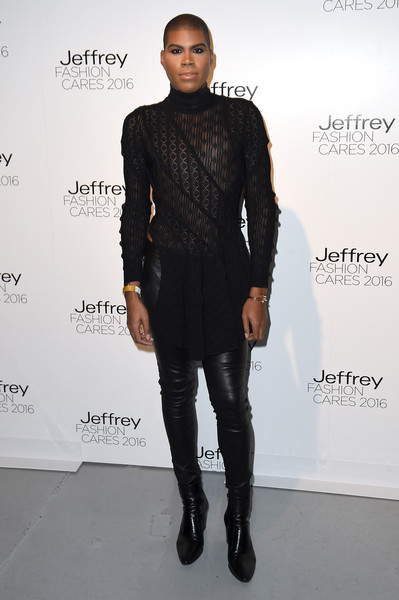 EJ Johnson attends the Jeffrey Fashion Cares 13th Annual Fashion Fundraiser at the Intrepid Sea-Air-Space Museum on April 4, 2016 in New York City.