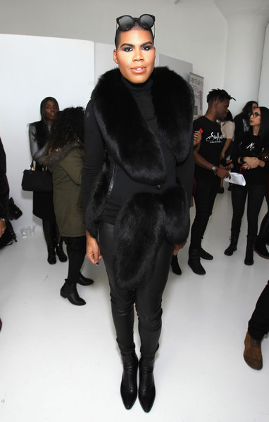 EJ Johnson poses during SheaMoisture at Laquan Smith F/W 2016 NYFW at Jack Studios on February 14, 2016 in New York City.