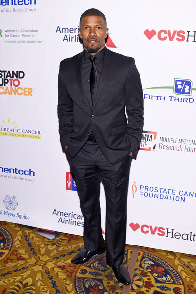 Actor Jamie Foxx attends Stand Up To Cancer's New York Standing Room Only, presented by Entertainment Industry Foundation, with donors American Airlines and Merck, chaired by Jim Toth, Reese Witherspoon & MasterCard President/CEO Ajay Banga and his wife Ritu, honoring Katie Couric at Cipriani Wall Street on April 9, 2016 in New York City.