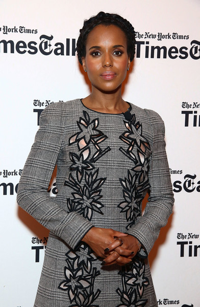 """Actress Kerry Washington poses during TimesTalks Presents: Kerry Washington And Anita Hill """"Confirmation"""" at The Times Center on April 8, 2016 in New York City."""