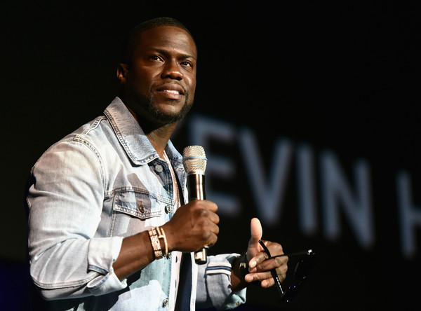 Actor Kevin Hart speaks onstage during CinemaCon 2016 as Universal Pictures Invites You to an Exclusive Product Presentation Highlighting its Summer of 2016 and Beyond at The Colosseum at Caesars Palace during CinemaCon, the official convention of the National Association of Theatre Owners, on April 13, 2016 in Las Vegas, Nevada.