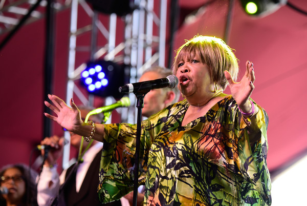 Singer Mavis Staples performs onstage during day 1 of the 2016 Coachella Valley Music & Arts Festival Weekend 2 at the Empire Polo Club on April 22, 2016 in Indio, California.