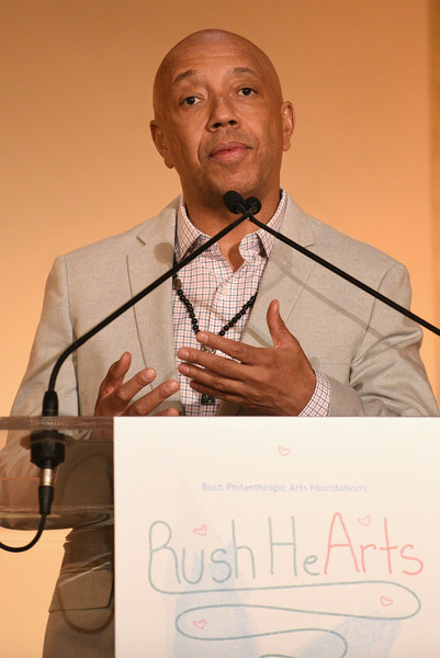 Co-Founder of the RUSH Philanthropic Arts Foundation Russell Simmons speaks onstage during Russell Simmons' Rush Philanthropic Arts Foundation's Annual Rush HeARTS Education Luncheon at The Plaza Hotel on March 11, 2016 in New York City.