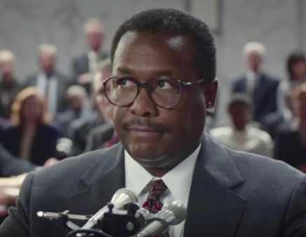"Wendell Pierce as Supreme Court Justice Clarence Thomas in HBO's ""Confirmation"""