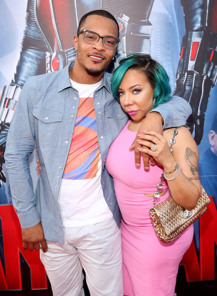 "Actor/rapper Tip ""T.I."" Harris (L) and singer Tameka ""Tiny"" Cottle-Harris attend the world premiere of Marvel's ""Ant-Man"" at The Dolby Theatre on June 29, 2015 in Los Angeles, California."
