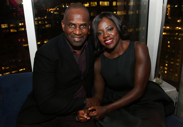 Actors Julius Tennon (L) and Viola Davis attend the 2016 Tribeca Film Festival After Party For Custody Sponsored By EFFEN Vodka at Jimmy At The James Hotel on April 17, 2016 in New York City.