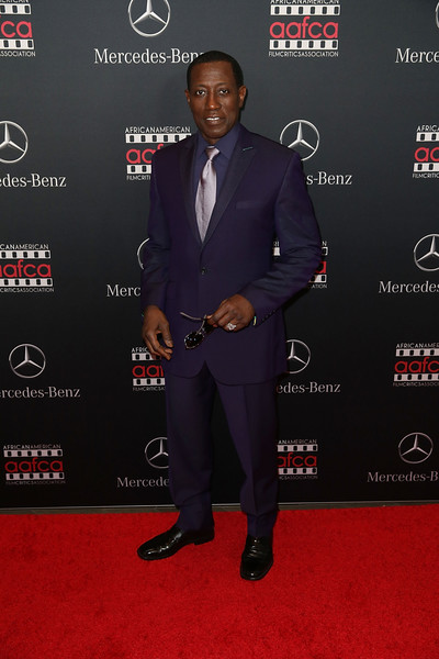 Wesley Snipes arrives at the Mercedes-Benz and African American Film Critics Association Oscar viewing party at Four Seasons Hotel Beverly Hills on February 28, 2016 in Los Angeles, California.