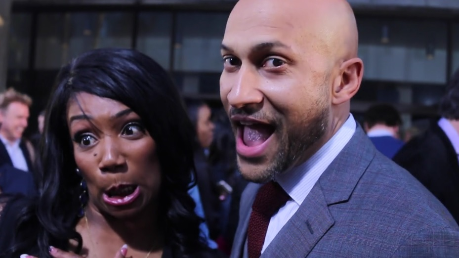 Tiffany Haddish and Keegan-Michael Key at  'Keanu' premiere
