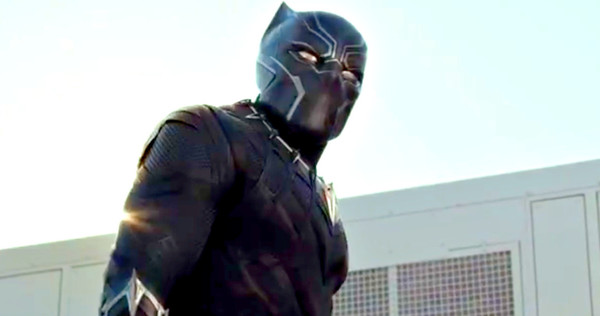 "Chadwick Boseman as Black Panther in ""Captain America: Civil War"""