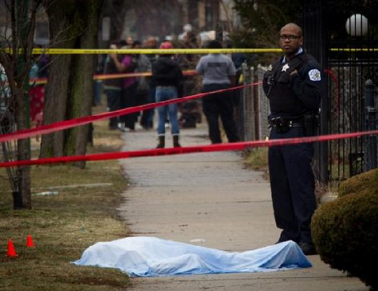 chicago murder scene