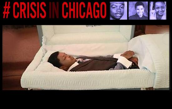 crisis in chicago - young man in coffin