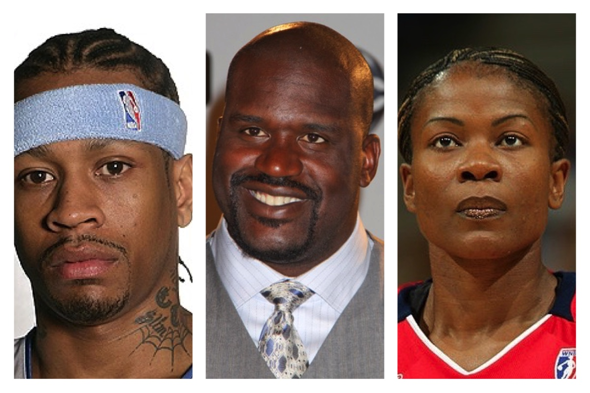 (L-R) Allen Iverson, Shaquille O'Neal and Sheryl Swoopes