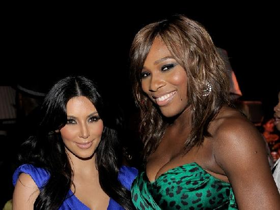kim k & serena williams