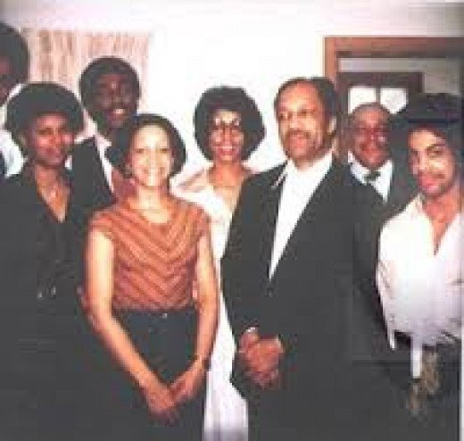 Prince (far right) and his family