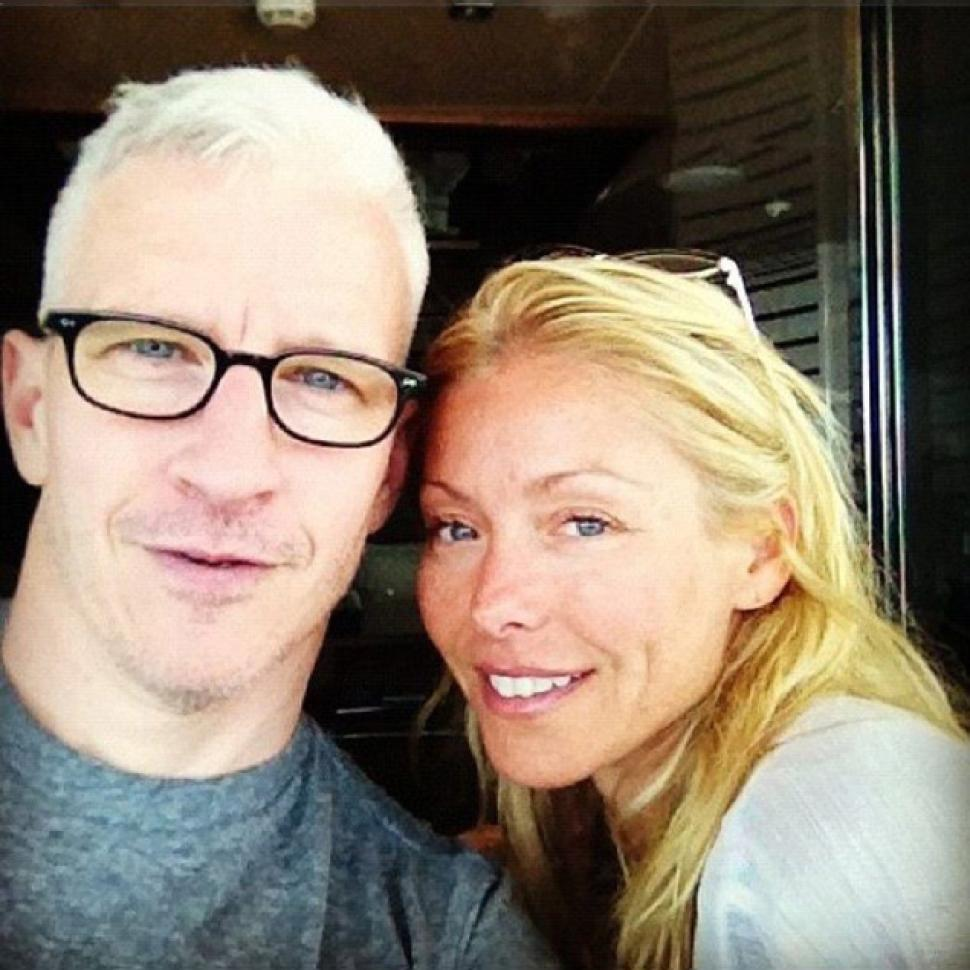 Anderson Cooper posted an Instagram photo of himself and friend Kelly Ripa while on vacation in Croatia.