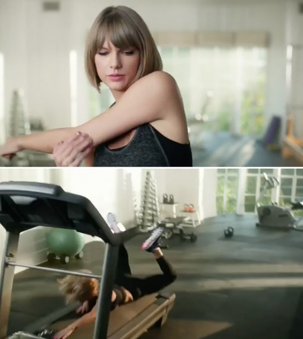 Taylor Swift in Apple Music ad