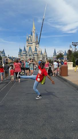 Disney Dreamer K'deja Correa enjoying her time at the Walt Disney World Orlando, Florida.