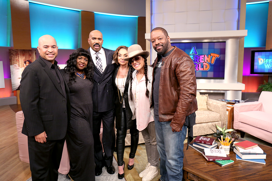 L to R, DARRYL BELL (Ron), CHARNELE BROWN (Kimberly), CREE SUMMER (Freddie), KADEEM HARDISON (Dwayne), JASMINE GUY (Whitley) and STEVE HARVEY.