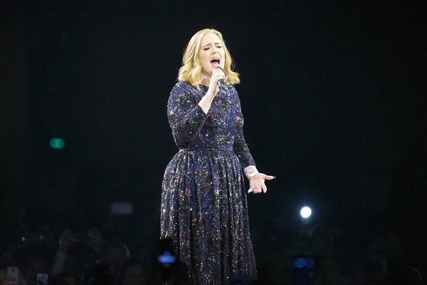 Adele performs at Forum on May 3, 2016 in Copenhagen, Denmark.