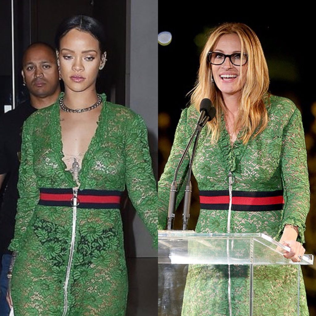 Rihanna and Julia Roberts (Getty Images)
