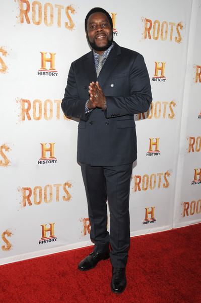 """Actor Chad Coleman attends the premiere screening of """"Night One"""" of the four night epic event series, """"Roots,"""" hosted by HISTORY at Alice Tully Hall on May 23, 2016 in New York City."""
