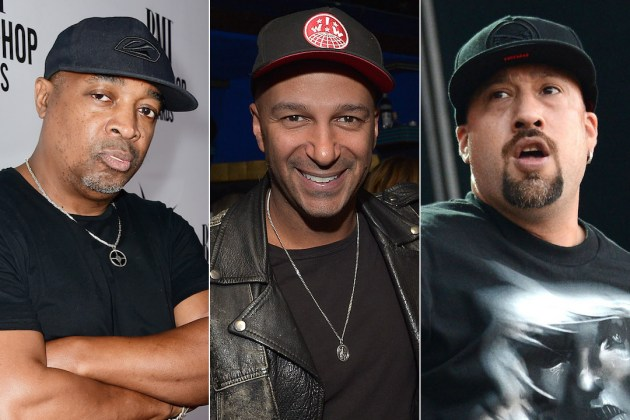 (L-R): Chuck D, Tom Morello and B-Real
