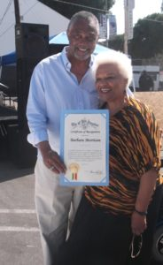 Councilmember Curren Price, 9th District and Barbara Morrison: Photo Credit, Ricky Richardson