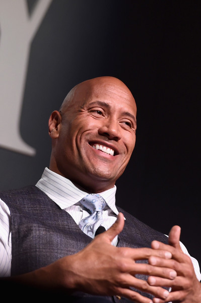 """Actor Dwayne """"The Rock"""" Johnson speaks onstage during 'The Next Intersection For Hollywood with William Morris Endeavor's Ari Emanuel, Patrick Whitesell and Dwayne """"The Rock"""" Johnson' at the Fast Company Innovation Festival on November 9, 2015 in New York City."""