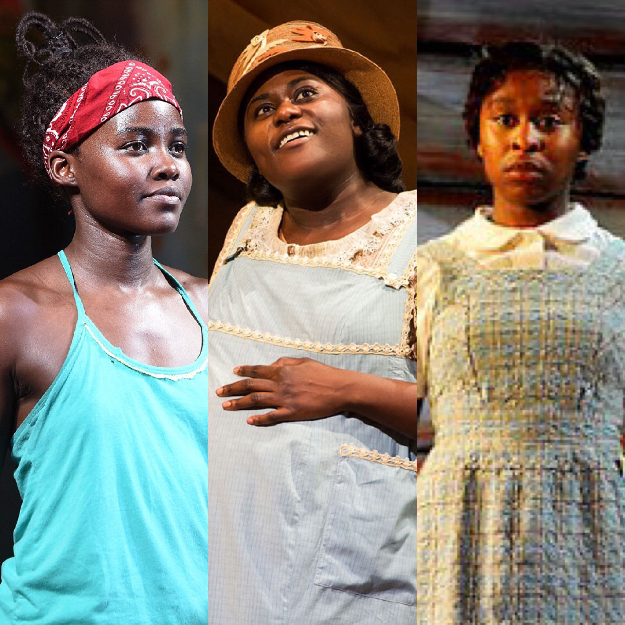 (L-R): Lupita Nyong'o in Eclipsed, Danielle Brooks and Cynthia Erivo in The Color Purple