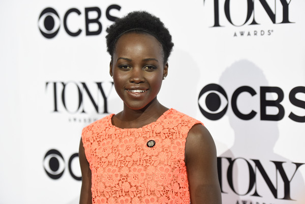 Lupita Nyong'o attends the 2016 Tony Awards Meet The Nominees Press Junket at Diamond Horseshoe at the Paramount Hotel on May 4, 2016 in New York City.