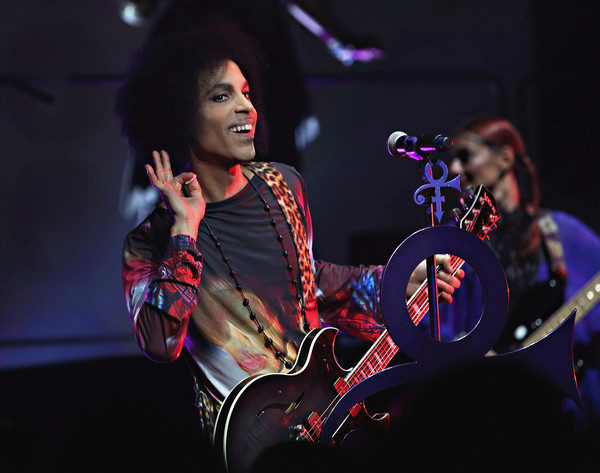 "(Exclusive Coverage) Prince performs onstage with 3RDEYEGIRL during their ""HITnRUN"" tour at Sony Centre For The Performing Arts on May 19, 2015 in Toronto, Canada."