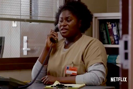 "Danielle Brooks as Taystee in Season 4 trailer for ""Orange is the New Black"" (Netflix)"