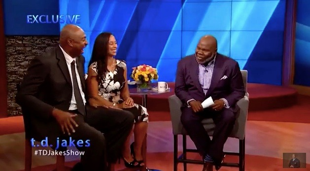 T.D. Jakes on the set of his daytime talk show