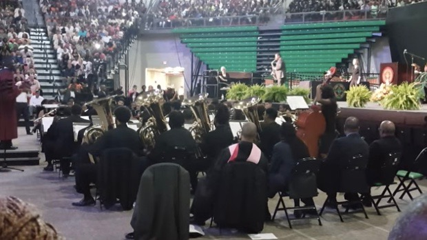 BK Jackson and the FAMU Wind Symphony at FAMU's 2016 Spring Commencement (April 30, 2016)