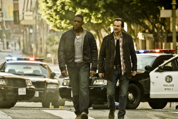 """Justin Cornwell  and Bill Paxton in CBS' """"Training Day"""""""