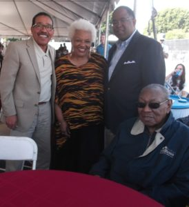 Council President Herb Wesson, District 10, Barbara Morrison, County Supervisor Mark Ridley Thomas, 2nd District and Freddie Cole