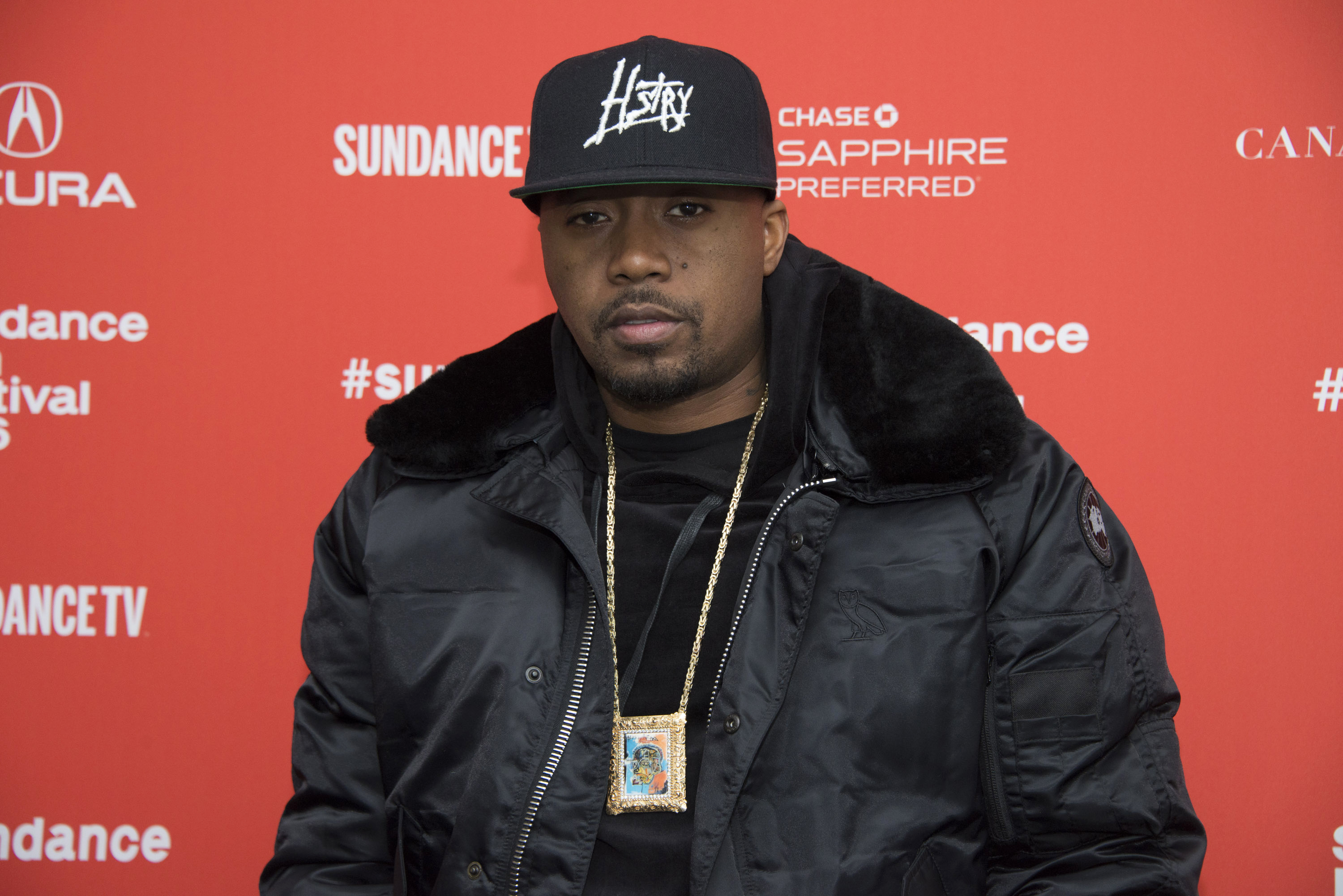 """Nas at the premiere of """"The Land"""" during the 2016 Sundance Film Festival on Tuesday, Jan. 26, 2016, in Park City, Utah. (Photo by Arthur Mola/Invision/AP)"""