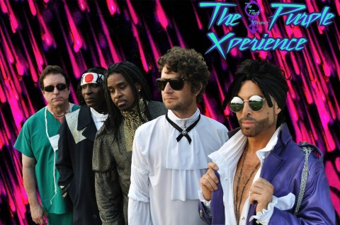 "Former Prince keyboardist Matt ""Doctor"" Fink, far left, in the Prince tribute band, The Purple Xperience."