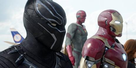 black panther & iron man