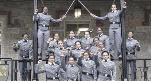black west point female cadets raised fists1