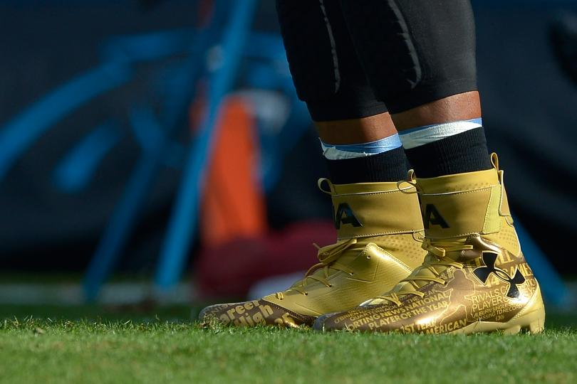 Cam Newton's Size 14  Cleats