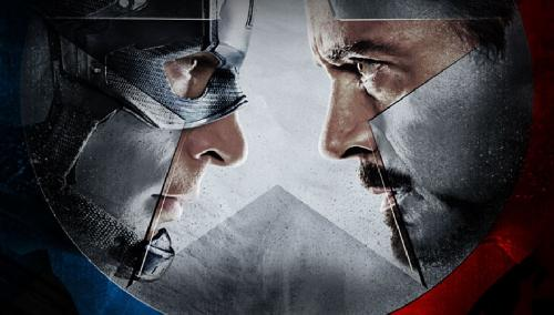 captain america & iron man face off