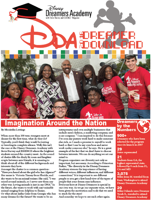 2016 Disney Dreamers Newsletter.