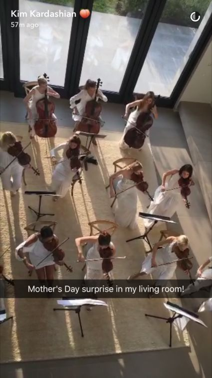Kim Kardashian Receives At-Home Orchestra on Mother's Day Before Celebrating With Entire Family