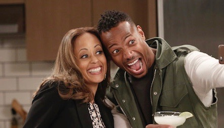 MARLON -- Pilot -- Pictured: (l-r) Essence Atkins as Ashley, Marlon Wayans as Marlon -- (Photo by: Tyler Golden/NBC)