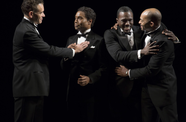 Shuffle Along's Brian Stokes Mitchell, Billy Porter, Joshua Henry, and Brandon Victor Dixon.