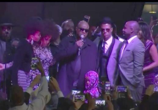 stevie wonder & others at prince salute in la