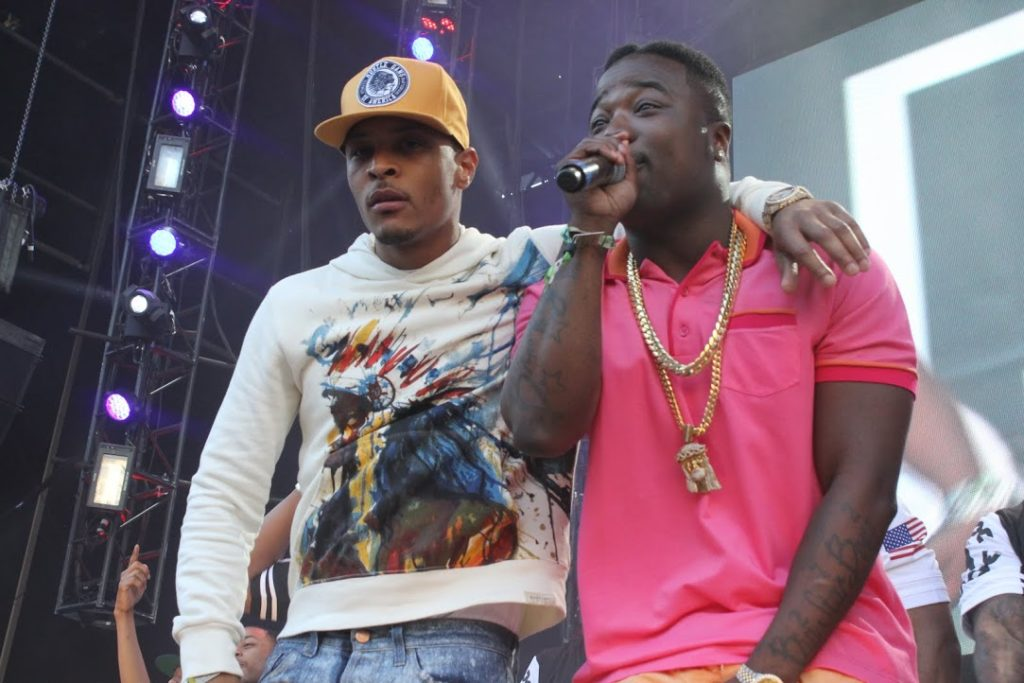 Troy Ave (R) with T.I.
