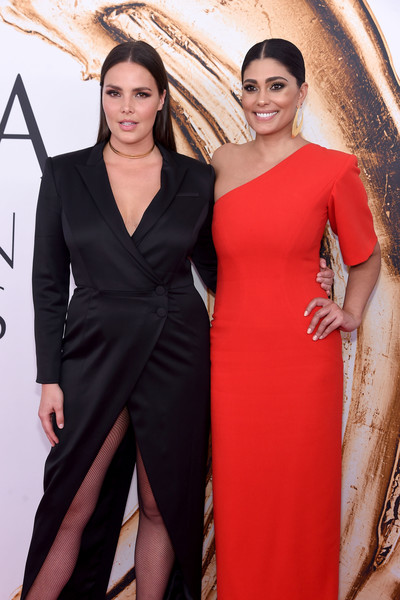 Model Candice Huffine and Rachel Roy attend the 2016 CFDA Fashion Awards at the Hammerstein Ballroom on June 6, 2016 in New York City.